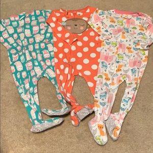 🌈4/$25🌈 Carter's ZIP Pajamas, Set of 3
